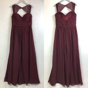 Bill Levkoff Dresses - Bill Levkoff Maroon Gown